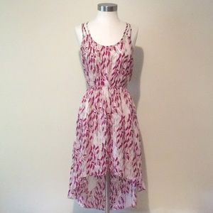 BCBGeneration pink white maxi dress XXS